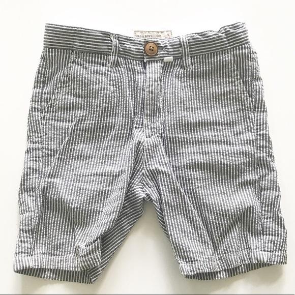 6250e465d {zara kids} toddler boy striped chambray short 4T.  M_5b34ff7c534ef91a02a18908